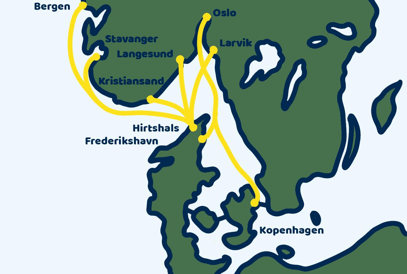 Ferry Denemarken Noorwegen