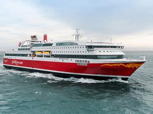 fjordline ferry op zee