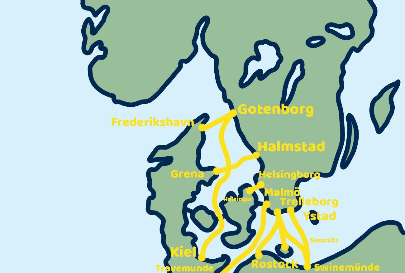 Scandinavie overtocht kaartje Zweden